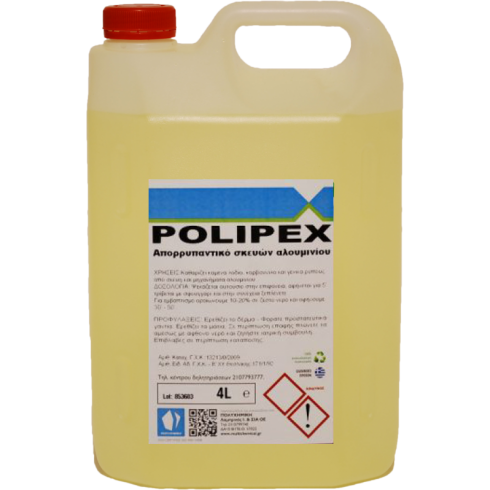Υγρό καθαρισμού λαδιών για σκεύη αλουμινίου Polipex 4lit Συμπυκνωμένο Επιφανειών