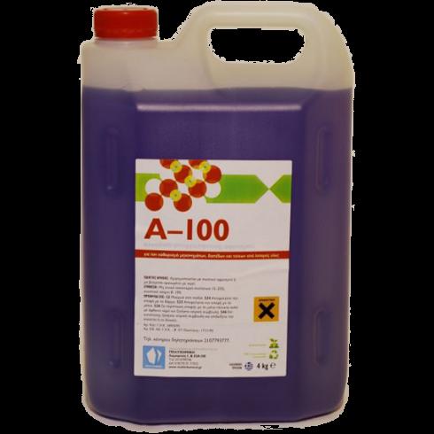 Καθαριστικό υγρό με αφρό Α-100 4lit Συμπυκνωμένο