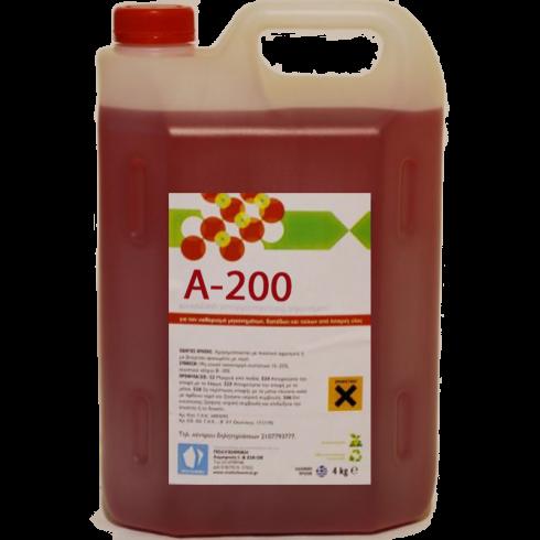 Καθαριστικό υγρό με αφρό Α-200 4lit Συμπυκνωμένο