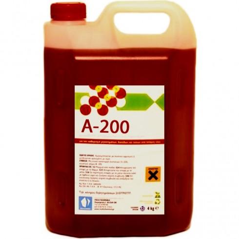 Καθαριστικό υγρό με αφρό Α-200 4lit Συμπυκνωμένο Χώρων Υγιεινής