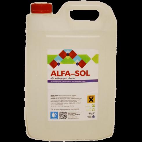 Καθαριστικό υγρό Alfa - Sol 4lit Συμπυκνωμένο Χώρων Υγιεινής