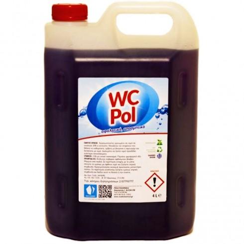 Υγρό καθαρισμού αλάτων WC - Pol 4lit Συμπυκνωμένο Χώρων Υγιεινής