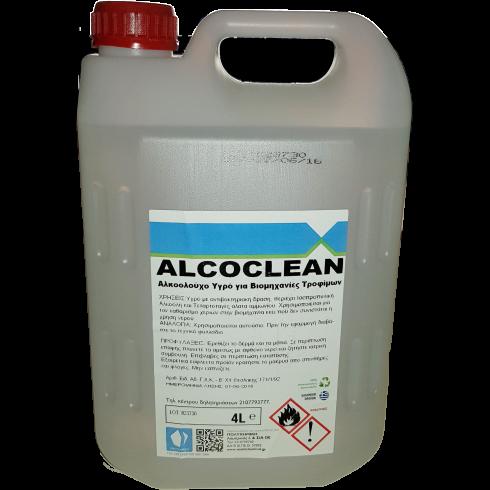 Αλκοολούχο υγρό καθαρισμού χεριών και σκευών Alcoclean 4lit  Κρεμοσάπουνα - Αντισηπτικά Χεριών