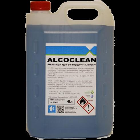 Αλκοολούχο gel καθαρισμού χεριών και σκευών Alcoclean 4lit  Κρεμοσάπουνα - Αντισηπτικά Χεριών