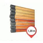 Κοντάρι ξύλινο, λούστρο 1,20 μ. (Ελληνικό σπείρωμα) Κοντάρια