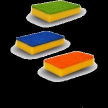 Σφουγγάρι κουζίνας αντιβακτηριδιακο σετ 3 τεμαχίων