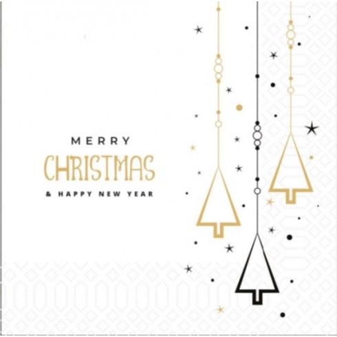 Χριστουγεννιάτικη Χαρτοπετσέτα 2Φ, 33 x 33 εκ., 85 τμχ. Χαρτοπετσέτες