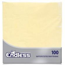 Χαρτοπετσέτα κρεμ, 2Φ, 38 x 38 εκ., πολυτελείας, Endless