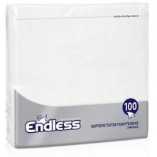 Χαρτοπετσέτα λευκή, 2Φ, 38 x 38 εκ., πολυτελείας, Endless