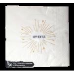 Χαρτοπετσέτα λευκή πολυτελέιας, 33 x 33 εκ., 2Φ, 50 τμχ. Χαρτοπετσέτες