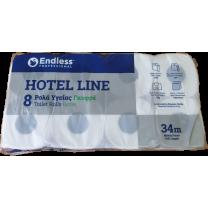 Χαρτί υγείας γκοφρέ, 2Φ, 110 γρ., 8 ρολών, Hotel Line - Gofre