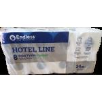 Χαρτί υγείας γκοφρέ, 2Φ, 110 γρ., 8 ρολών, Hotel Line - Gofre Χαρτί Υγείας
